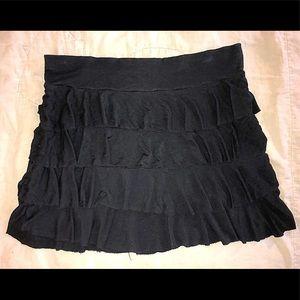 Women's (Junior's) Layered Ruffle Mini Skirt